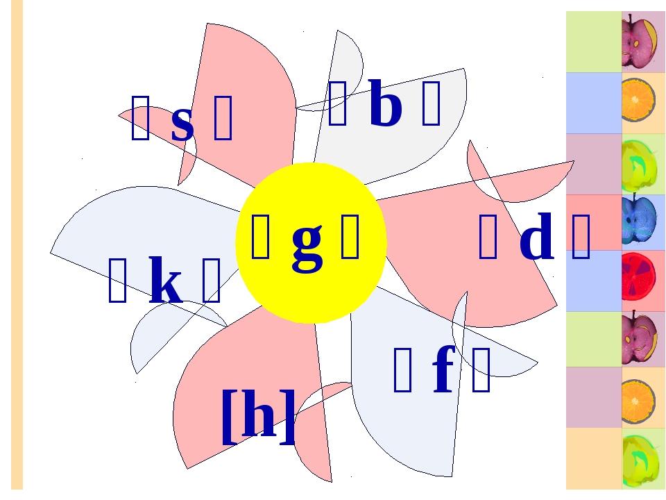 [b] [d] [f] [h] [s] [k] [g]