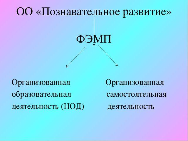 ОО «Познавательное развитие» ФЭМП Организованная Организованная образователь...