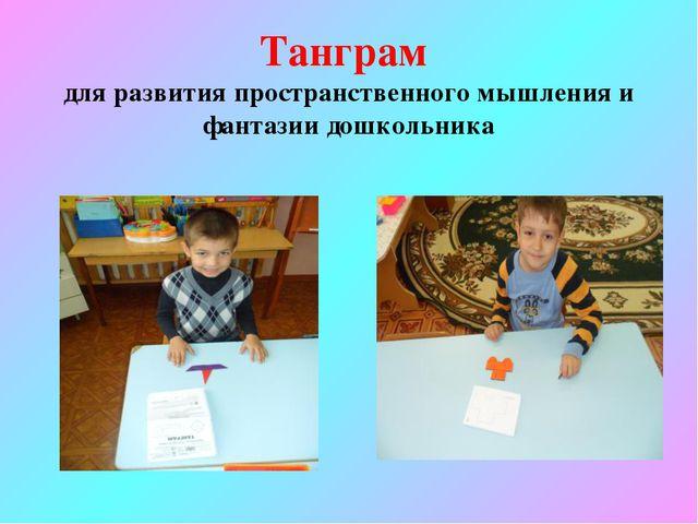 Танграм для развития пространственного мышления и фантазии дошкольника