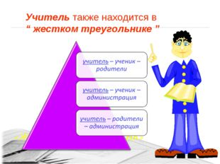 """«ЖЕСТКИЙ ТРЕУГОЛЬНИК» Учитель также находится в """" жестком треугольнике """""""