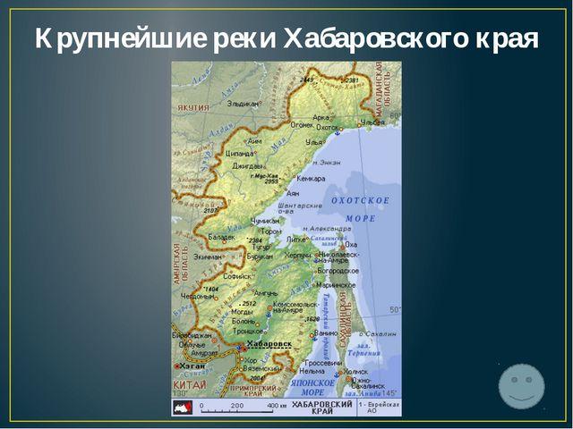 Крупнейшие реки Хабаровского края