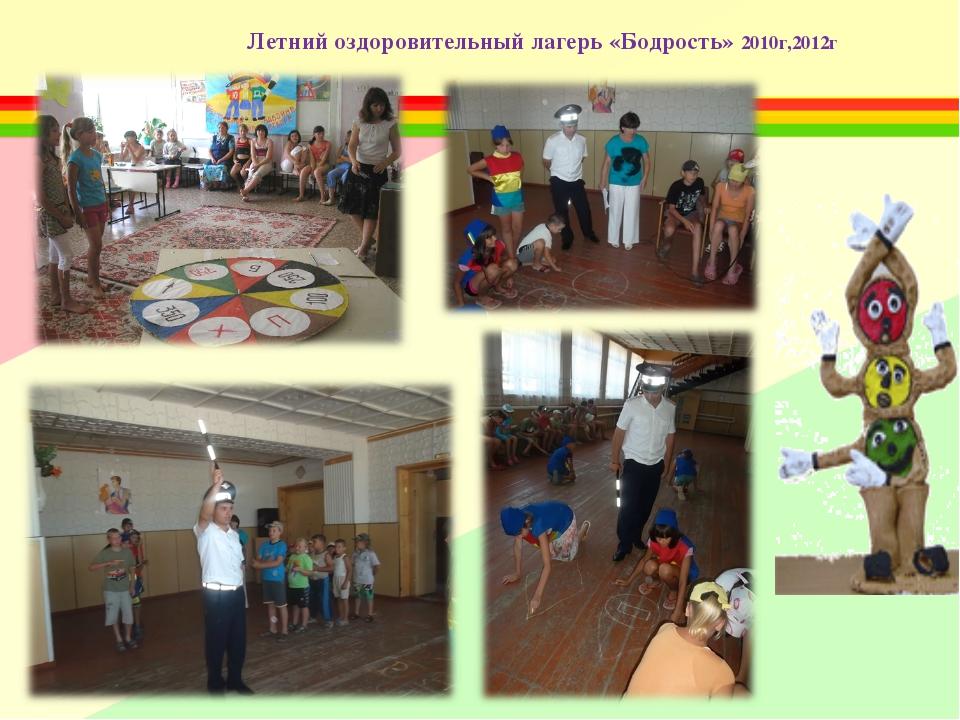 Летний оздоровительный лагерь «Бодрость» 2010г,2012г