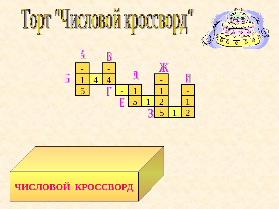 - 1 5 - 1 2 4 4 - 1 5 1 2 1 - 5 - 1 ЧИСЛОВОЙ КРОССВОРД