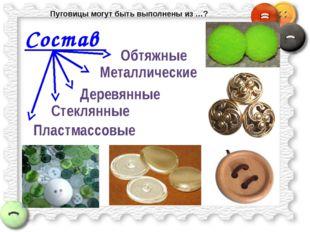Состав Деревянные Пластмассовые Стеклянные Металлические Обтяжные Пуговицы мо