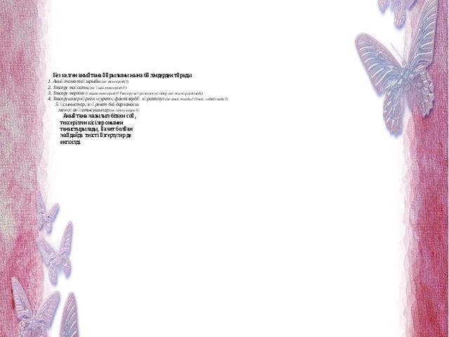 Кез келген анықтама құрылымы мына бөлімдерден тұрады 1. Анықтама тақырыбы...