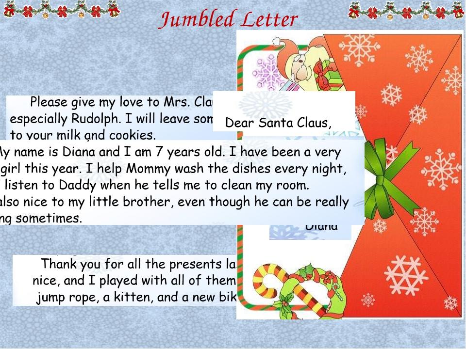 Jumbled Letter