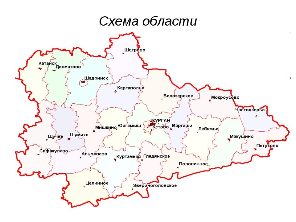 Схема области