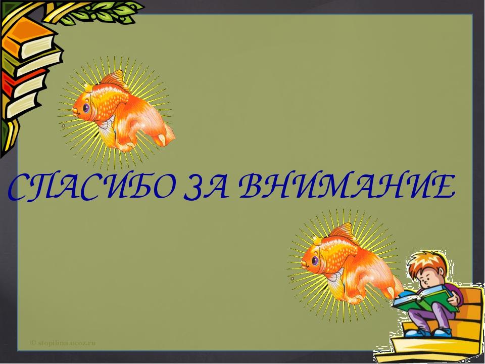 СПАСИБО ЗА ВНИМАНИЕ © stopilina.ucoz.ru
