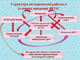 Структура методической работы в условиях введения ФГОС Заведующий ОГАОУ ДПО Б