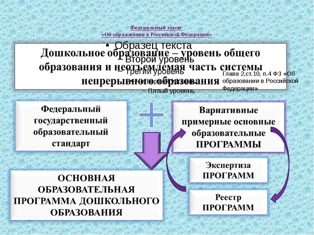 Федеральный закон «Об образовании в Российской Федерации» Глава 2,ст.10, п.4...