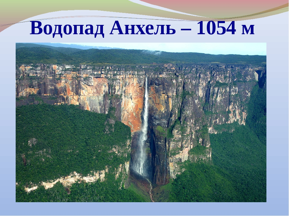 Водопад Анхель – 1054 м
