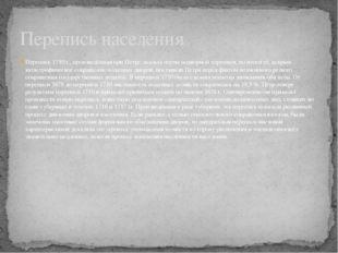 Перепись 1710 г., произведённая при Петре, носила черты подворной переписи, н