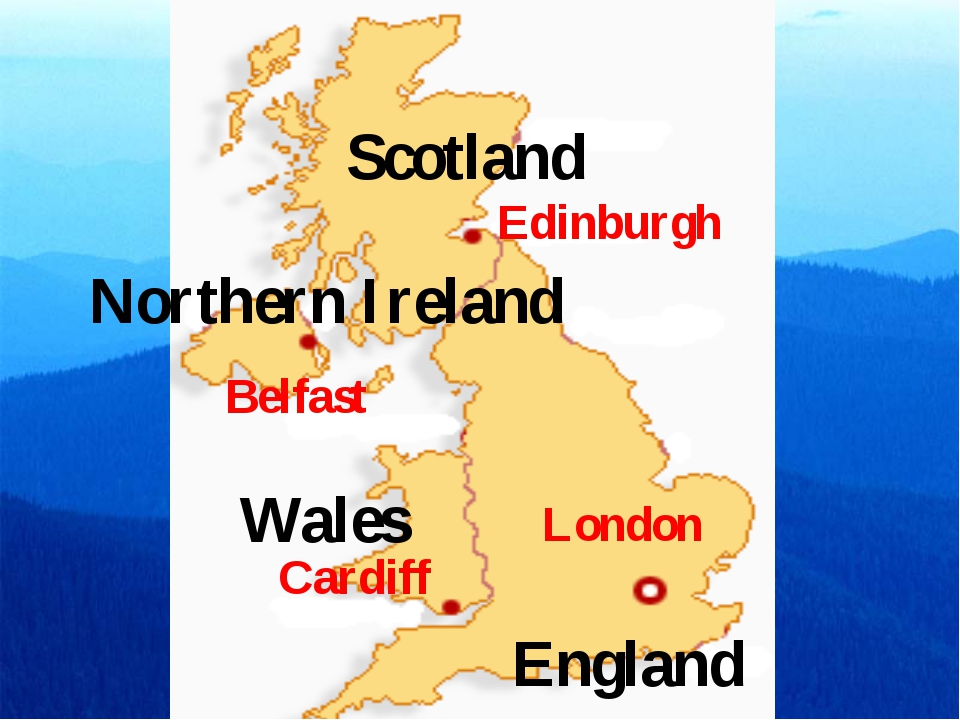 Edinburgh London Cardiff Belfast England Wales Scotland Northern Ireland