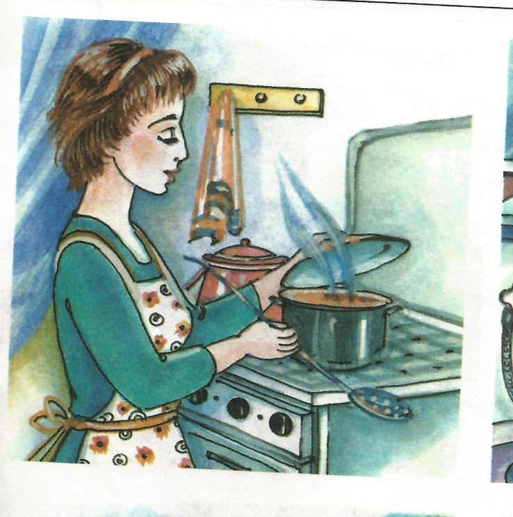 Картинки мама варит кашу