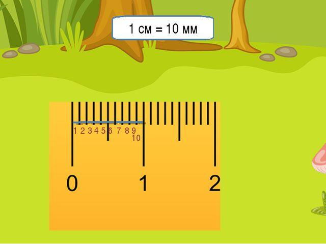 Миллиметр 1 2 3 4 5 6 7 8 9 10 1 см = 10 мм