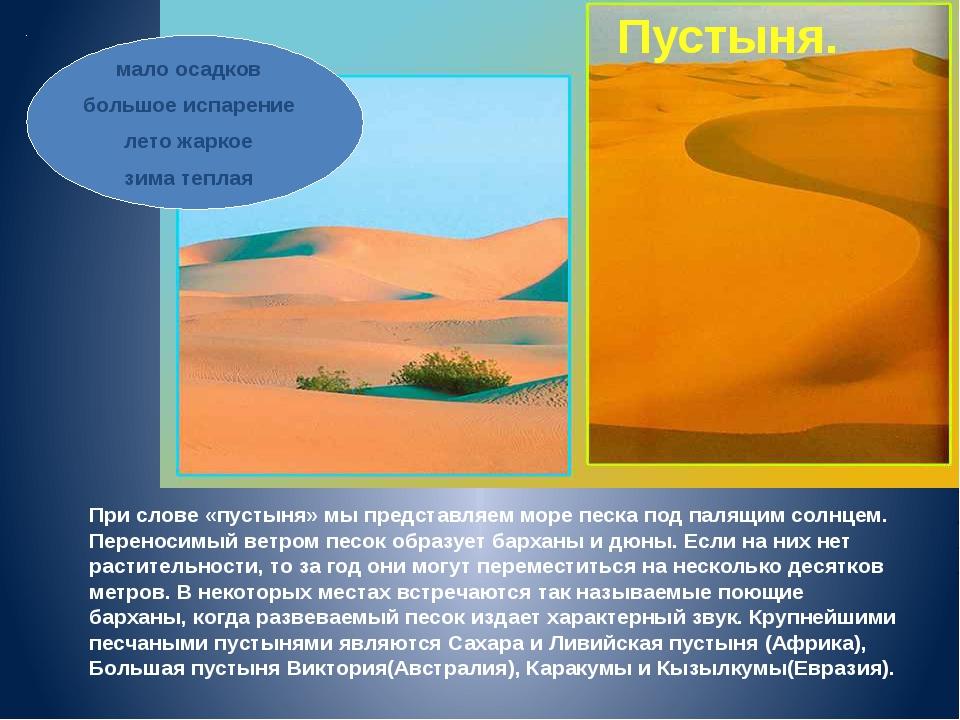 При слове «пустыня» мы представляем море песка под палящим солнцем. Переносим...