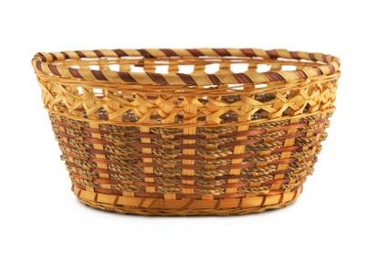 Wicker Basket Isolated On White. Фотография, картинки, изображения и сток-фотография без роялти. Image 3667523.