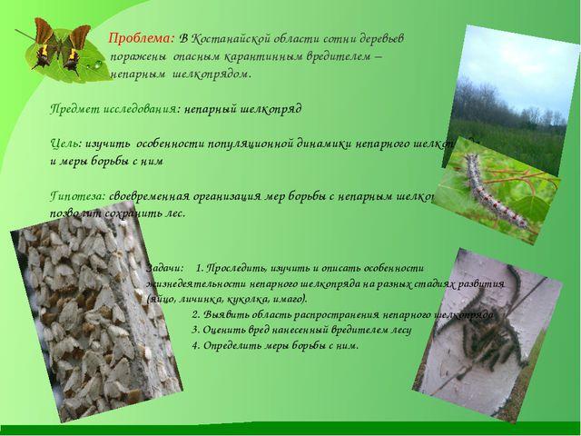Проблема: В Костанайской области сотни деревьев поражены опасным карантинным...