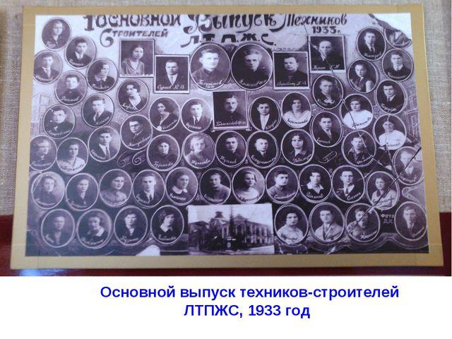 Основной выпуск техников-строителей ЛТПЖС, 1933 год