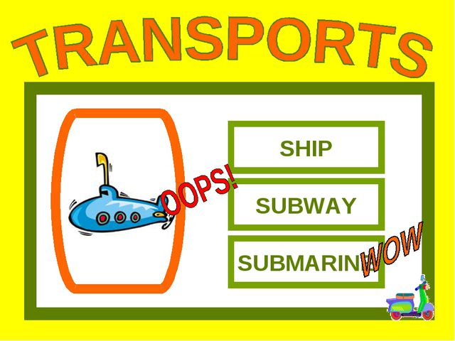 SHIP SUBWAY SUBMARINE