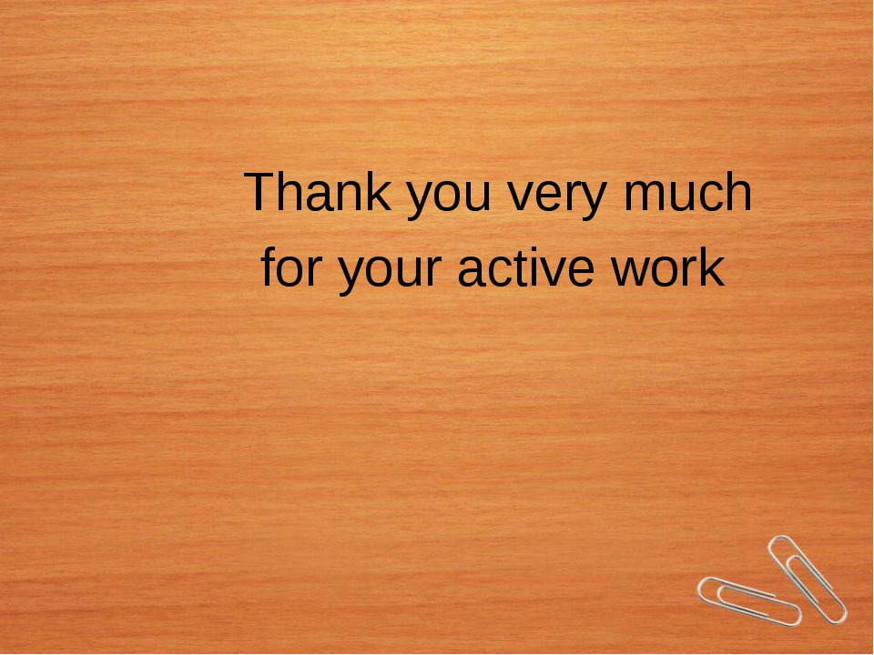 Thank you very much for your active work