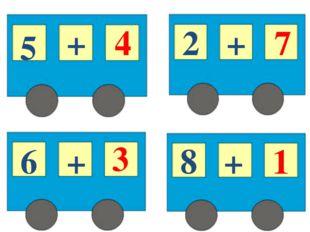 5 + 4 6 + 3 2 + 7 8 + 1