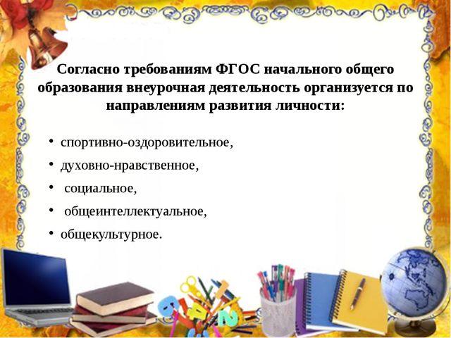 Согласно требованиям ФГОС начального общего образования внеурочная деятельнос...