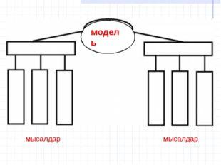 модель мысалдар мысалдар