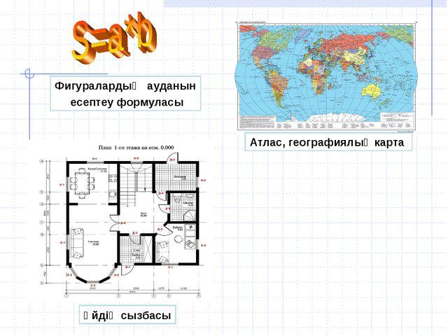 Фигуралардың ауданын есептеу формуласы Атлас, географиялық карта Үйдің сызбасы