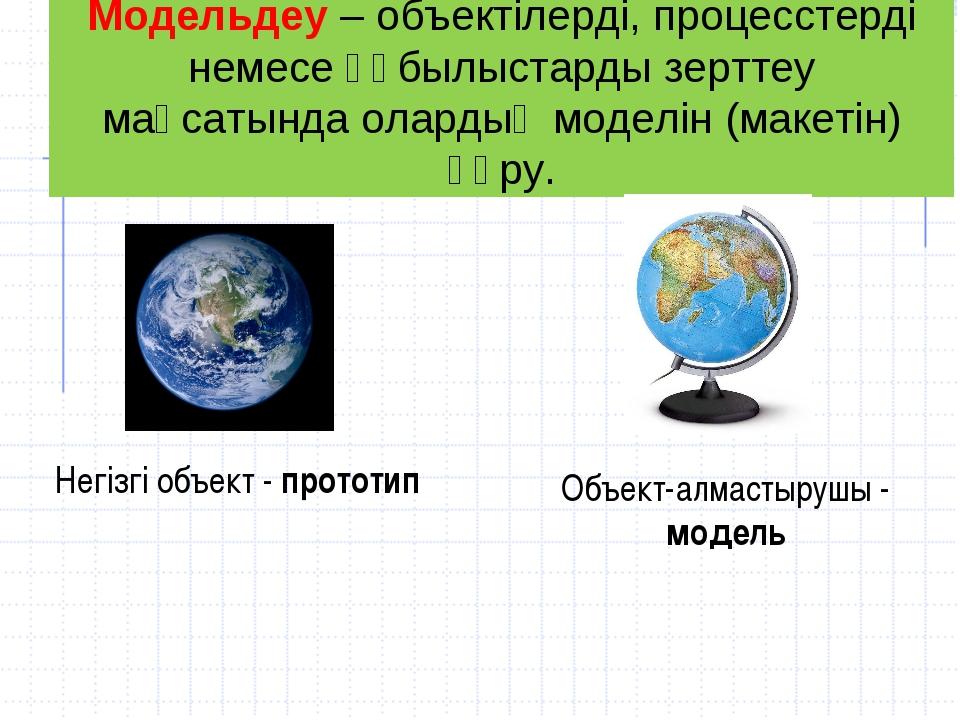 Модельдеу– объектілерді, процесстерді немесе құбылыстарды зерттеу мақсатында...