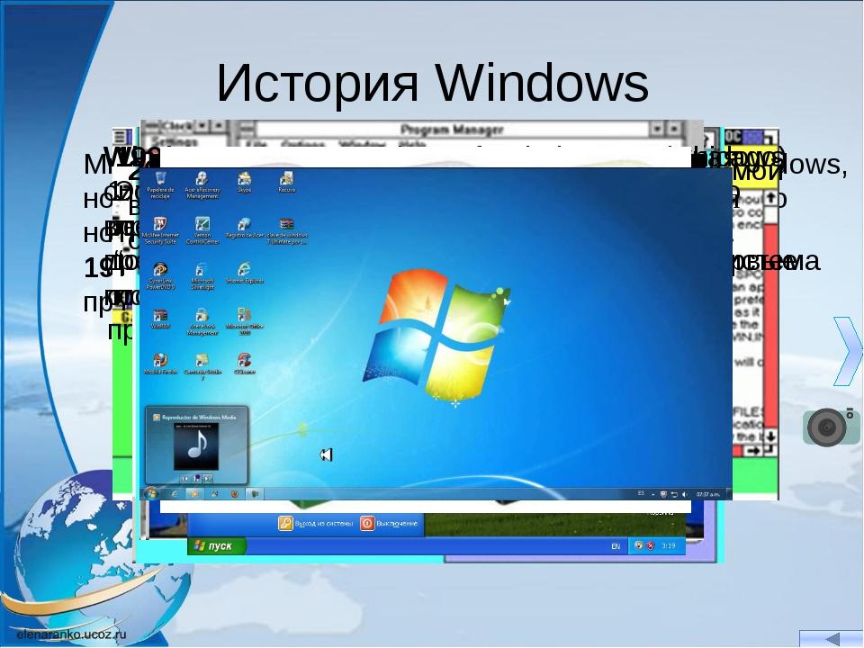 История Windows Многие пользователи компьютеров сидят в ОС Windows, но не все...