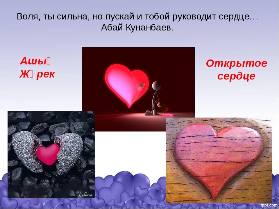 Воля, ты сильна, но пускай и тобой руководит сердце…Абай Кунанбаев. Ашық Жүре...
