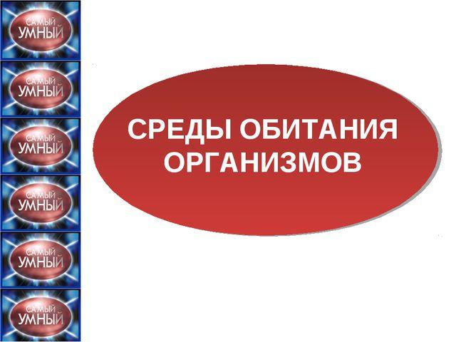 СРЕДЫ ОБИТАНИЯ ОРГАНИЗМОВ