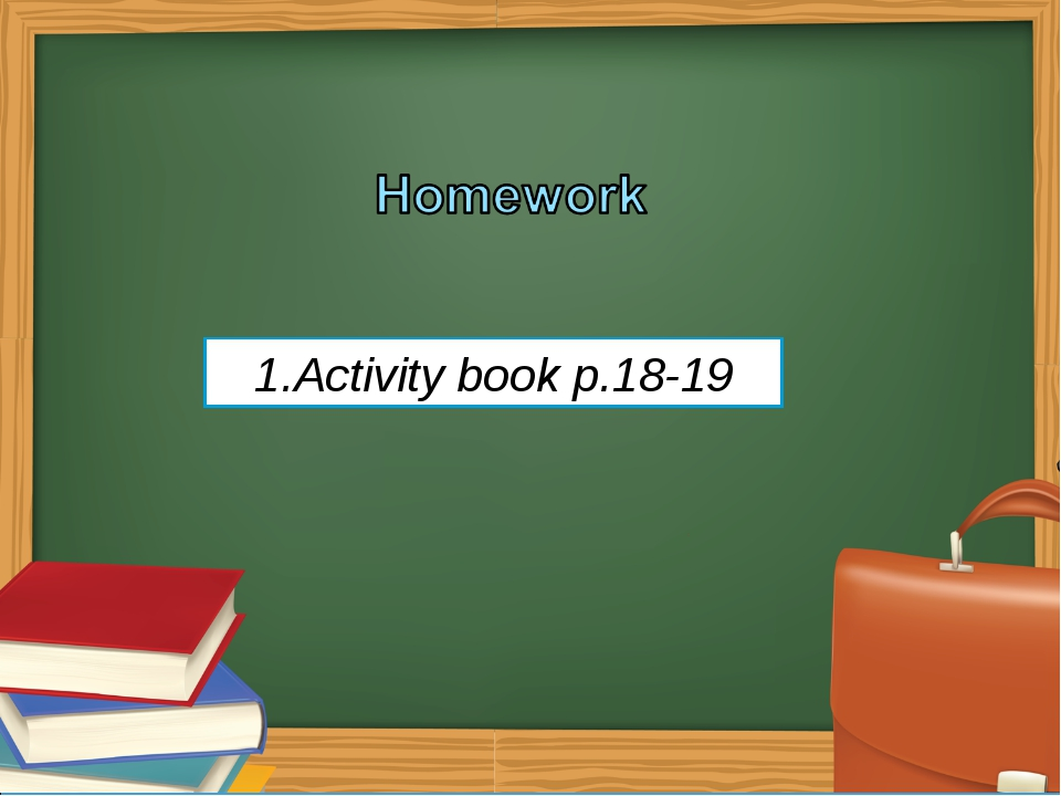 Activity book p.18-19