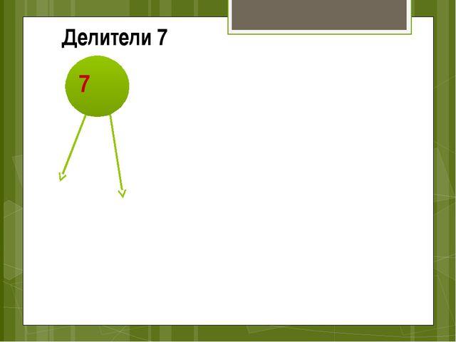 7 1 Делители 7 7
