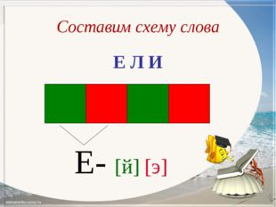 Составим схему слова Е Л И Е- [й] [э]
