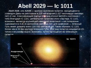 Abell 2029 — Ic 1011 Abell 2029, или A2029— крупное скопление галактик, нахо