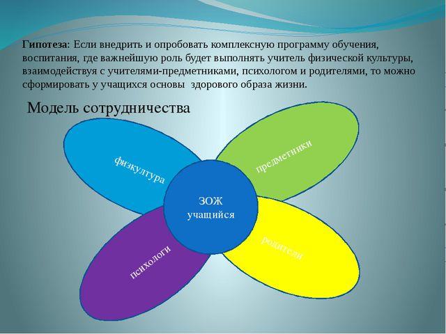 Гипотеза: Если внедрить и опробовать комплексную программу обучения, воспитан...