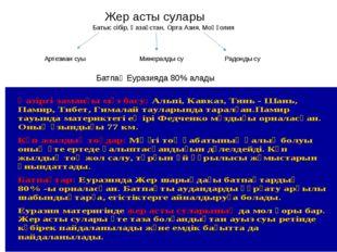 Жер асты сулары Батыс сібір, Қазақстан, Орта Азия, Моңғолия Артезиан суы Мин