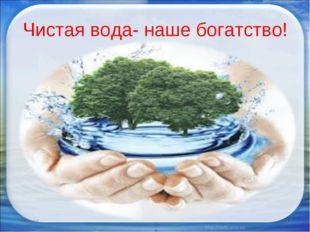 Чистая вода- наше богатство! * *