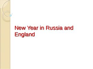 New Year in Russia and England