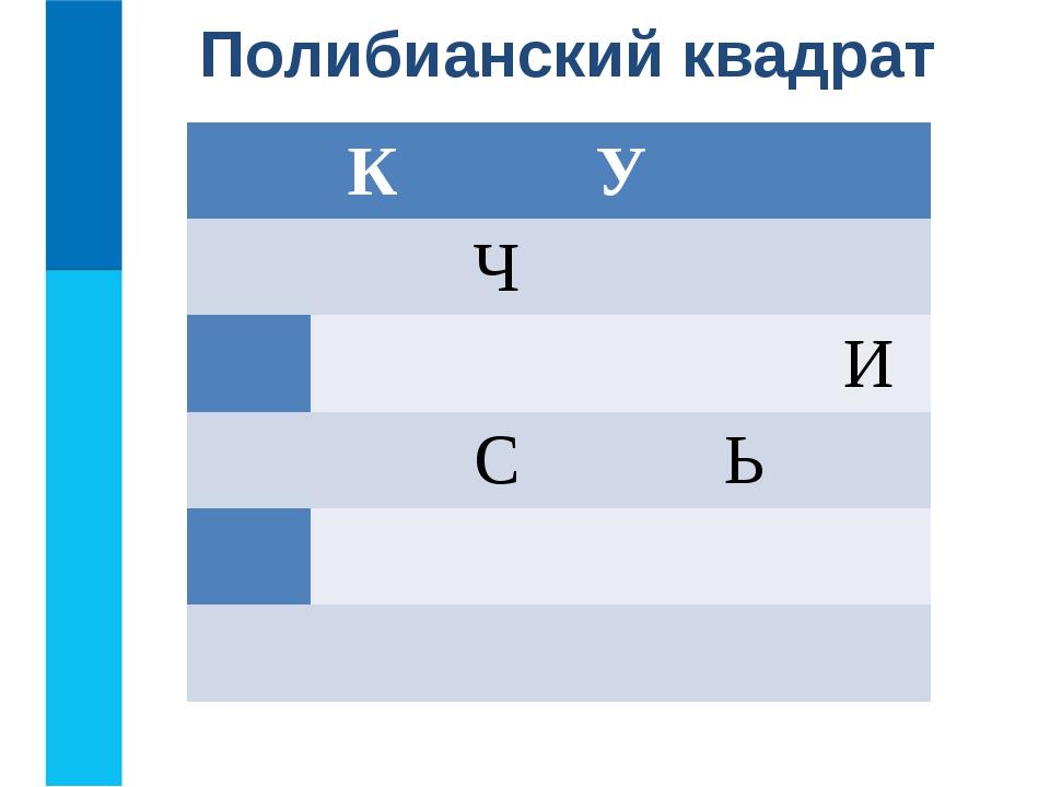 Полибианский квадрат К У Ч И С Ь