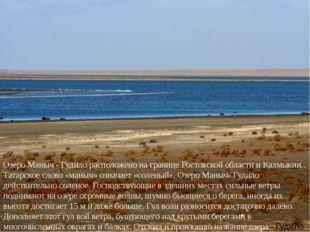 Озеро Маныч - Гудило расположено на границе Ростовской области и Калмыкии..