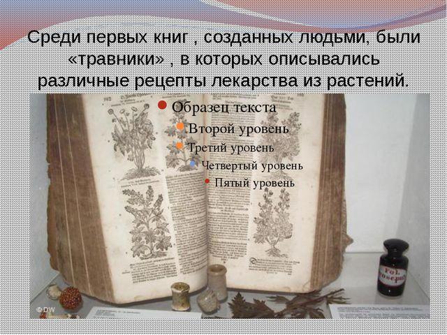 Среди первых книг , созданных людьми, были «травники» , в которых описывались...