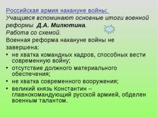 Российская армия накануне войны: Учащиеся вспоминают основные итоги военной р