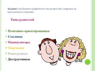 Задание: изобразите графически тип родителей, опираясь на предлагаемое описан