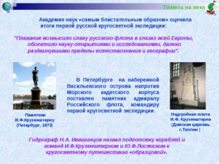 Память на века В Петербурге на набережной Васильевского острова напротив Мор