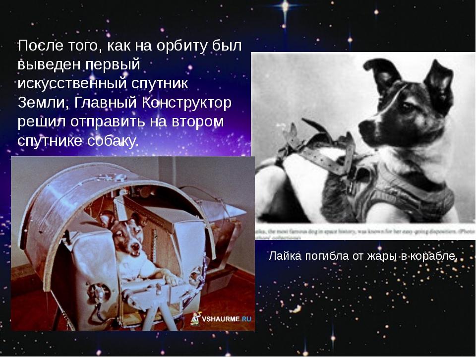 После того, как на орбиту был выведен первый искусственный спутник Земли, Гла...