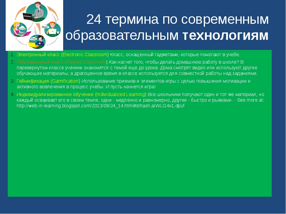 24 термина по современным образовательным технологиям Электронный класс (Elec...