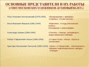 Пётр Петрович Кончаловский (1876-1956) «Возвращение с ярмарки», «Сирень», «Су